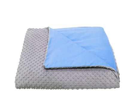 <strong>Size</strong>: 5 lbs<br><strong>Price</strong>: $90<br><br>This weighted blanket includes a duvetwith two diffe