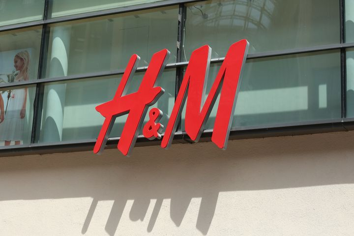 The logo of the Swedish multinational clothing-retail company H&M.