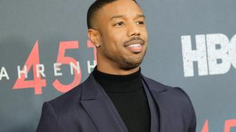 NEW YORK, NY - MAY 08:  Actor Michael B. Jordan attends the 'Fahrenheit 451' New York Premiere at NYU Skirball Center on May 8, 2018 in New York City.  (Photo by Matthew Eisman/Getty Images)