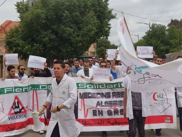 Marches des médecins résidents dans plusieurs villes, Hasbellaoui prolonge le bras de
