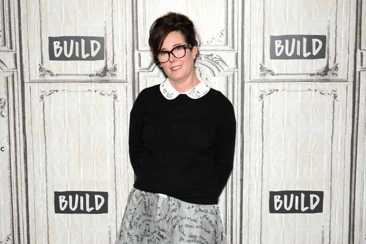 Kate Spade attending the AOL Build Series in April 2017.