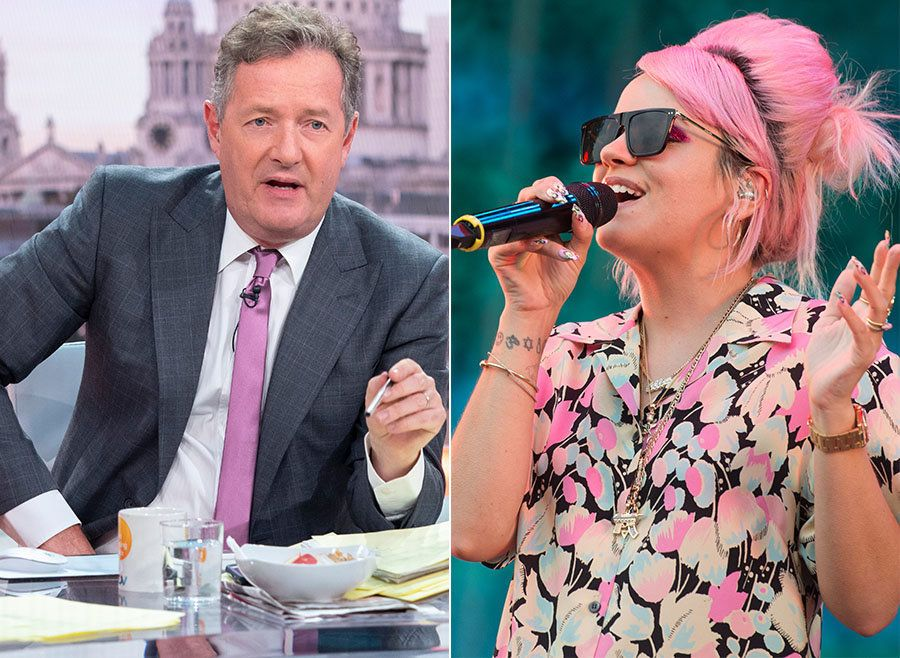 Lily Allen's 'Good Morning Britain' Interview 'Cancelled' Over Piers Morgan 'Twitter Spat'