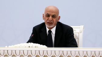 TASHKENT, UZBEKISTAN  MARCH 27, 2018: Afghanistan's President Ashraf Ghani Ahmadzai at the Afghanistan peace conference. Alexander Shcherbak/TASS (Photo by Alexander Shcherbak\TASS via Getty Images)