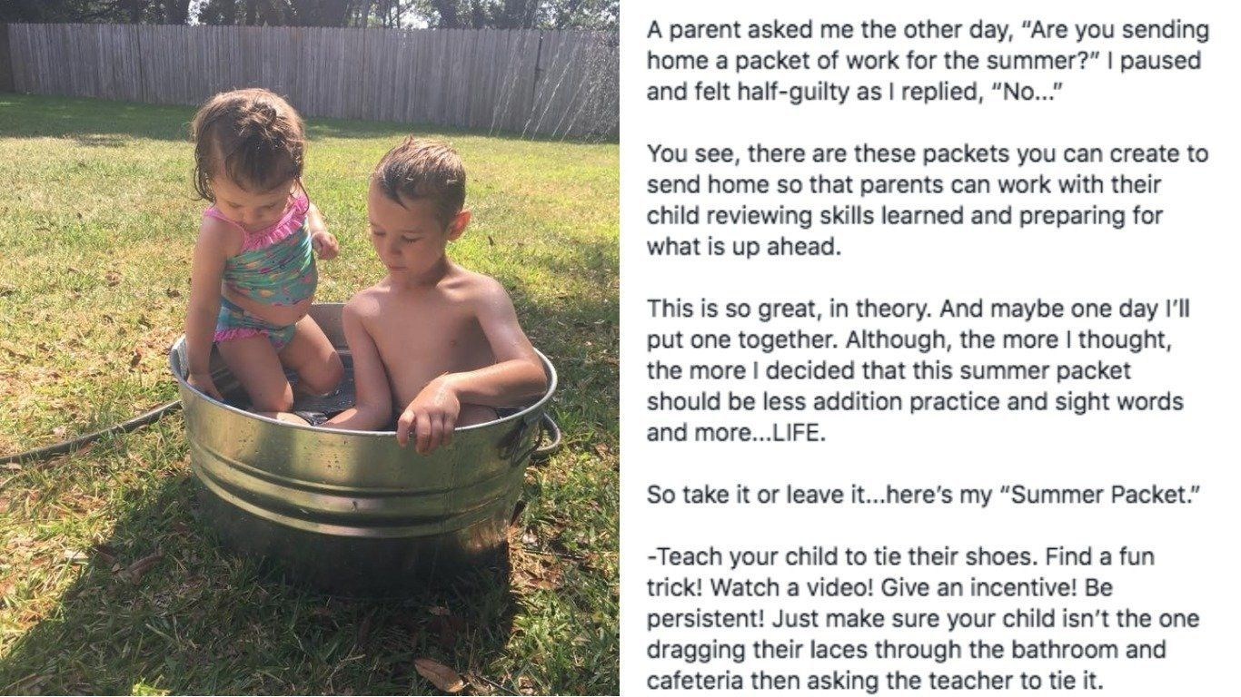 Kids (And Parents) Will Love This Teacher's Summer Homework