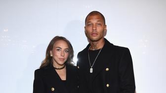 PARIS, FRANCE - JANUARY 20:  Chloe Green (L) and Jeremy Meeks attend the Balmain Homme Menswear Fall/Winter 2018-2019 show as part of Paris Fashion Week on January 20, 2018 in Paris, France.  (Photo by Pascal Le Segretain/Getty Images)