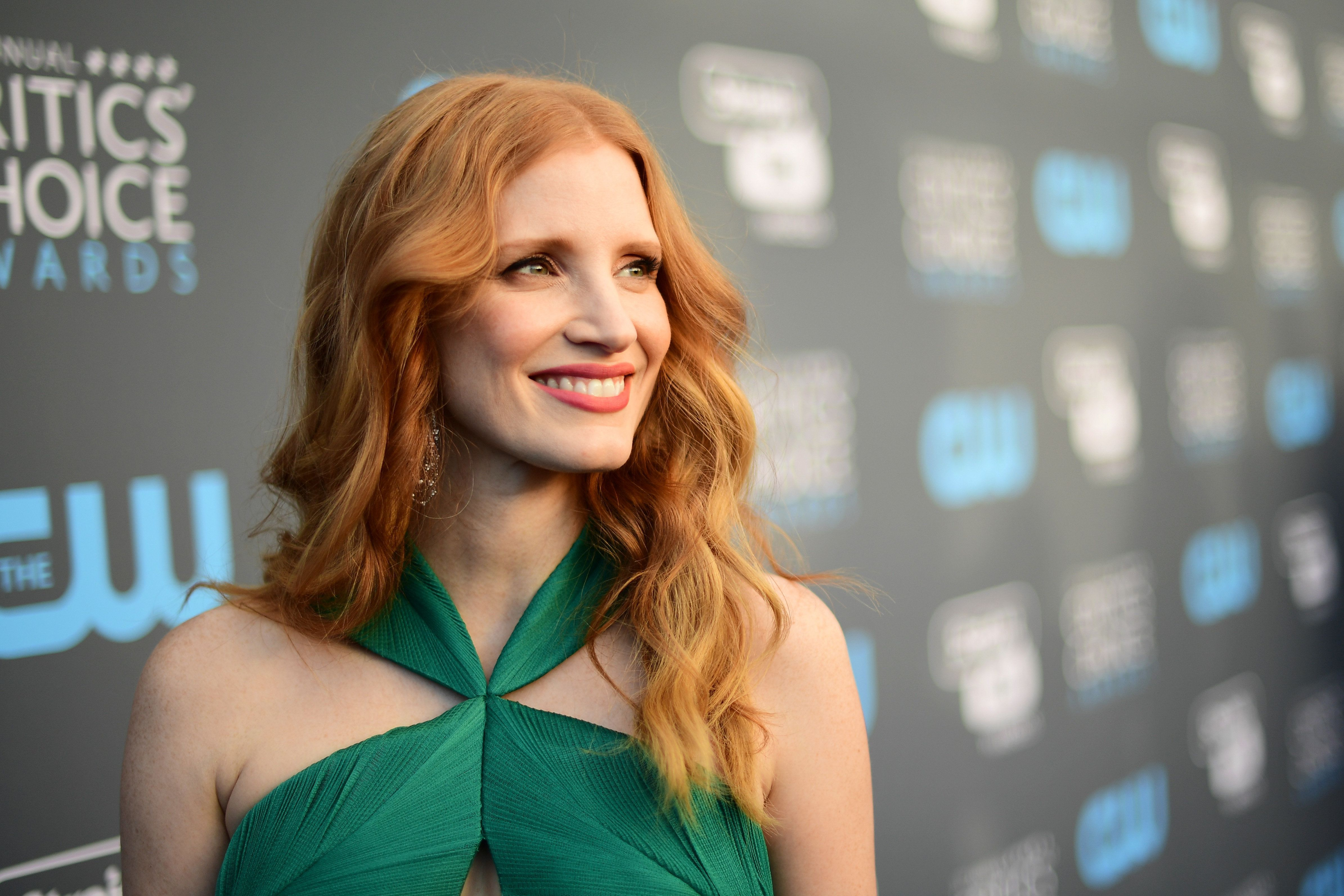 SANTA MONICA, CA - JANUARY 11:  Actor Jessica Chastain attends The 23rd Annual Critics' Choice Awards at Barker Hangar on January 11, 2018 in Santa Monica, California.  (Photo by Matt Winkelmeyer/Getty Images for The Critics' Choice Awards  )