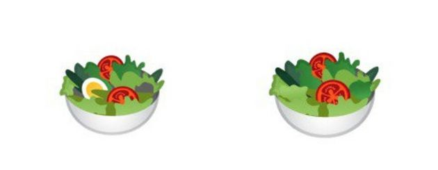 L'emoji salade perd son œuf pour devenir