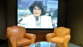 WASHINGTON, DC - JUNE 06:  Guest chairs from the set of 'The Oprah Winfrey Show' in the exhibition 'Watching Oprah: The Oprah Winfrey Show and American Culture,' at the National Museum Of African American History & Culture on June 6, 2018 in Washington, DC.  (Photo by Shannon Finney/Getty Images)