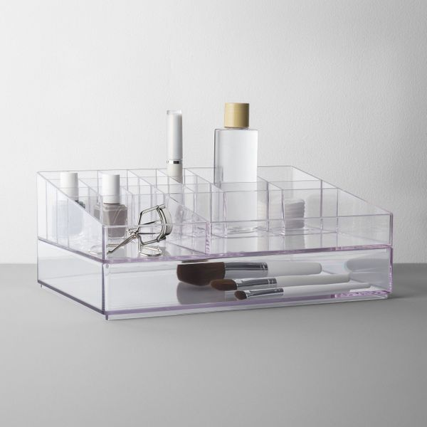 "$25, get it <a href=""https://www.target.com/p/extra-large-bathroom-plastic-tiered-cosmetic-organizer-clear-made-by-design-153"