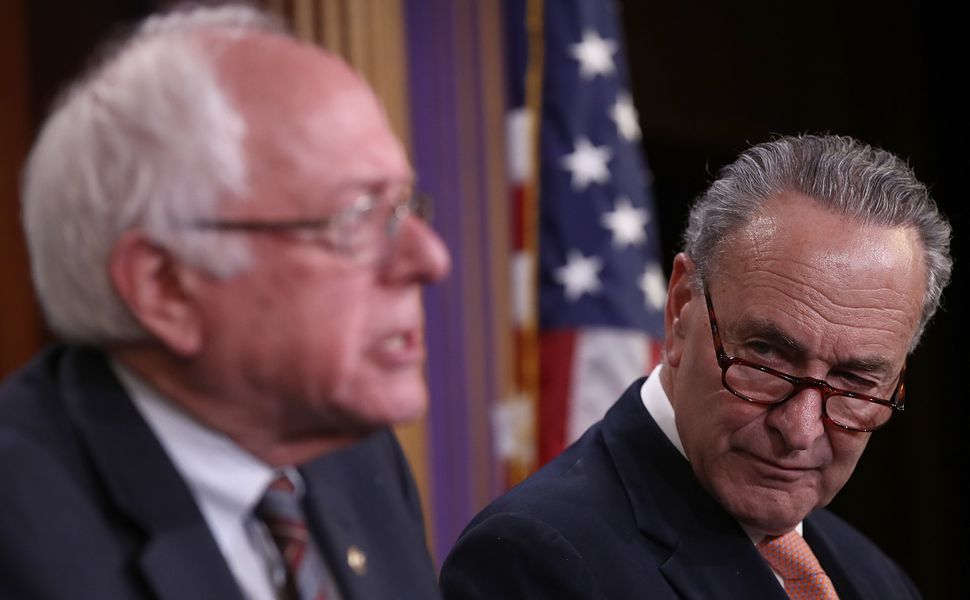Sens. Bernie Sanders (I-Vt.) and Chuck Schumer (D-N.Y.) A number of senators are already getting ready for 2020.
