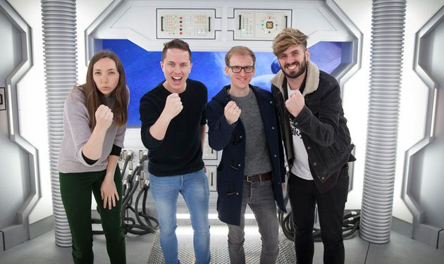 HuffPost UK's Ash (right) with a group of intrepid