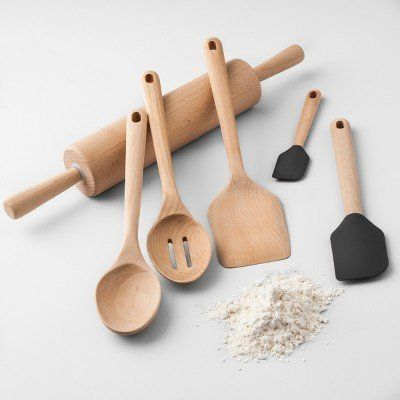 "$2 to $9, get it <a href=""https://www.target.com/p/beech-wood-kitchen-utensils-collection-made-by-design-153/-/A-53664168"" ta"