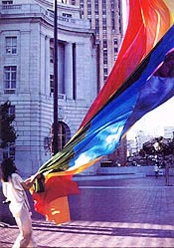"""When the rainbow pride flag was unveiled in 1978, its<a href=""""https://gilbertbaker.com/rainblow-flag-color-meanings/"""" t"""