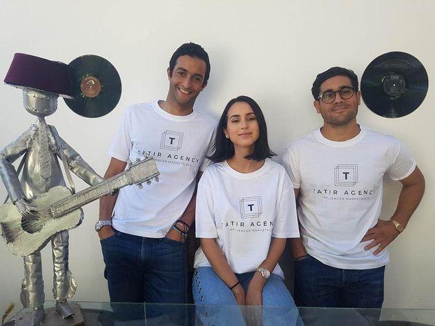 Nawfel Benchakroun, Itri Boutaleb et Nil Amara, fondateurs de TATIR