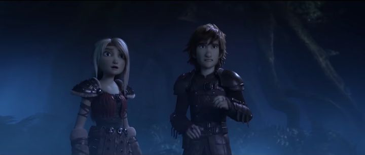 Astrid and Hiccup.
