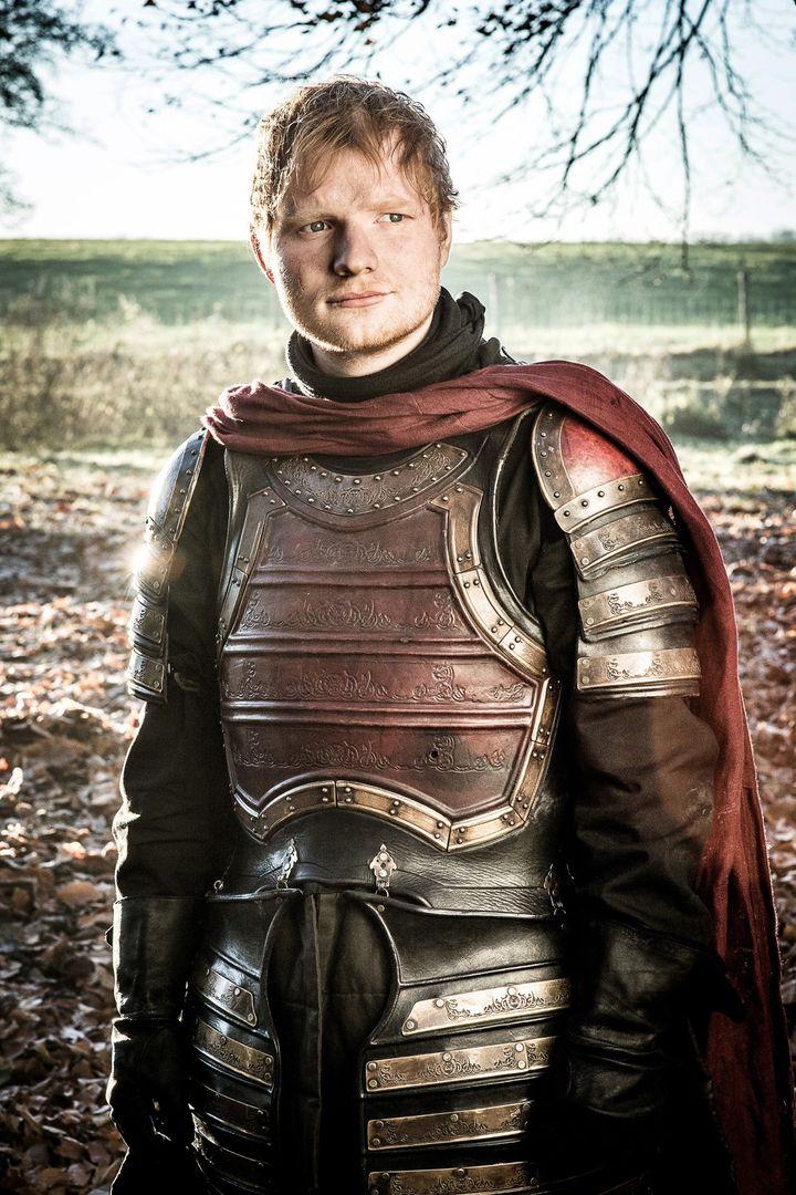 "Ed Sheeran in ""Game of Thrones."""