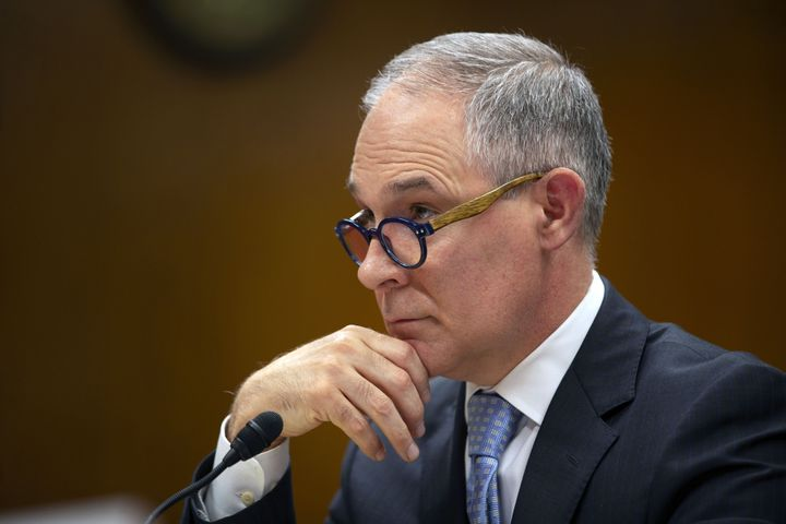 EPA Administrator Scott Pruitt testifies before a Senate subcommittee on May 16, 2018.