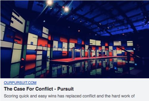 This ad from the nonprofit Our Pursuit was labeled political by Facebook's new ad disclosure system.