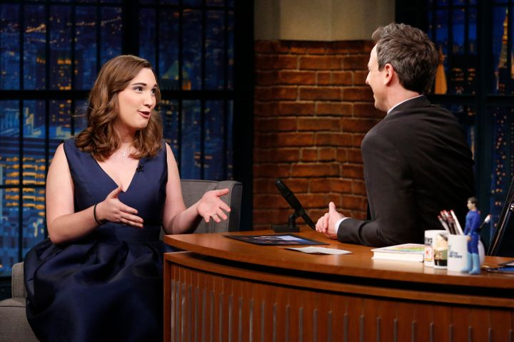 """Sarah McBride on""""Late Night with Seth Meyers"""" in April."""