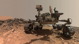 NASA's Curiosity Mars rover is seen at the site from which it reached down to drill into a rock target called 'Buckskin' on lower Mount Sharp in this low-angle self-portrait taken August 5, 2015 and released August 19, 2015. The selfie combines several component images taken by Curiosity's Mars Hand Lens Imager (MAHLI) during the 1,065th Martian day, or sol, of the rover's work on Mars, according to a NASA news release.  REUTERS/NASA/JPL-Caltech/MSSS/Handout  THIS IMAGE HAS BEEN SUPPLIED BY A THIRD PARTY. IT IS DISTRIBUTED, EXACTLY AS RECEIVED BY REUTERS, AS A SERVICE TO CLIENTS. FOR EDITORIAL USE ONLY. NOT FOR SALE FOR MARKETING OR ADVERTISING CAMPAIGNS