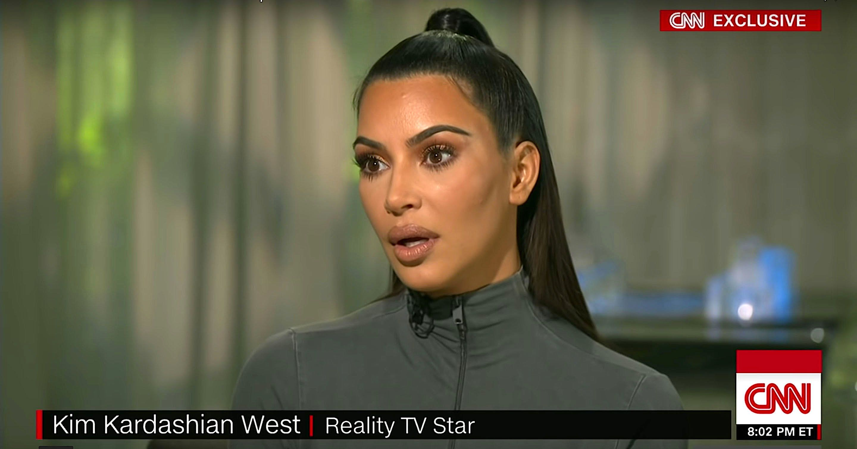Kim Kardashian talking about her role in Alice Johnsons release from prison