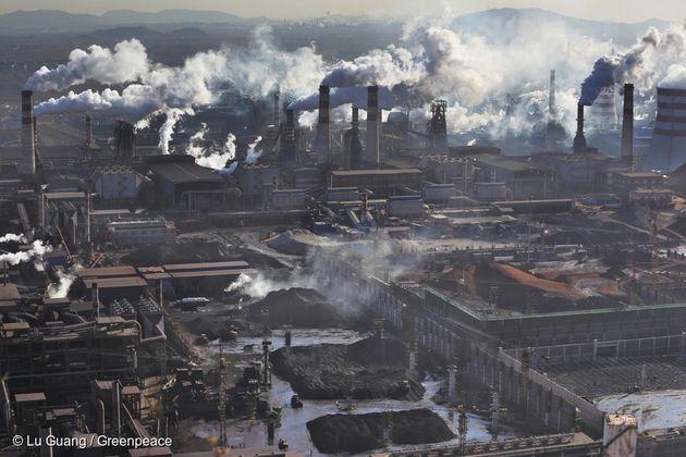 중국 허베이성 철강 공장