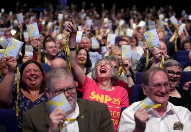 Delegates at the Scottish National Party conference at the SEC Centre in Glasgow in