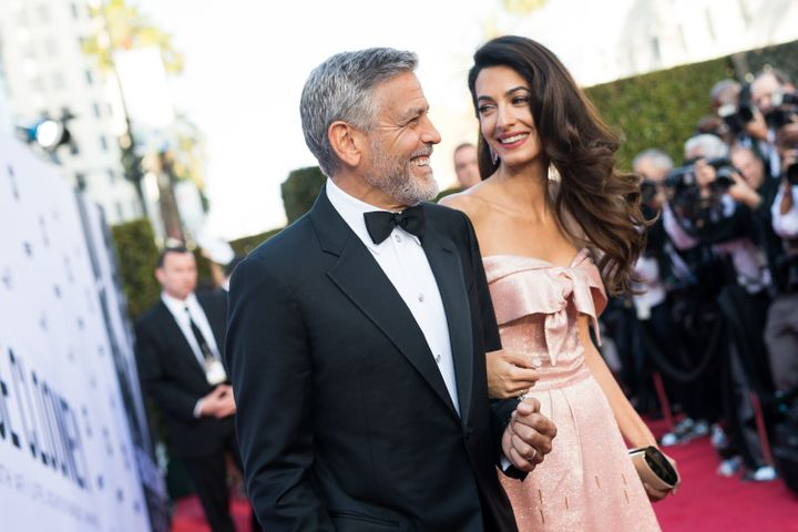 Amal and George Clooney arrive at the AFI's 46th Life Achievement Award Gala in Hollywood.