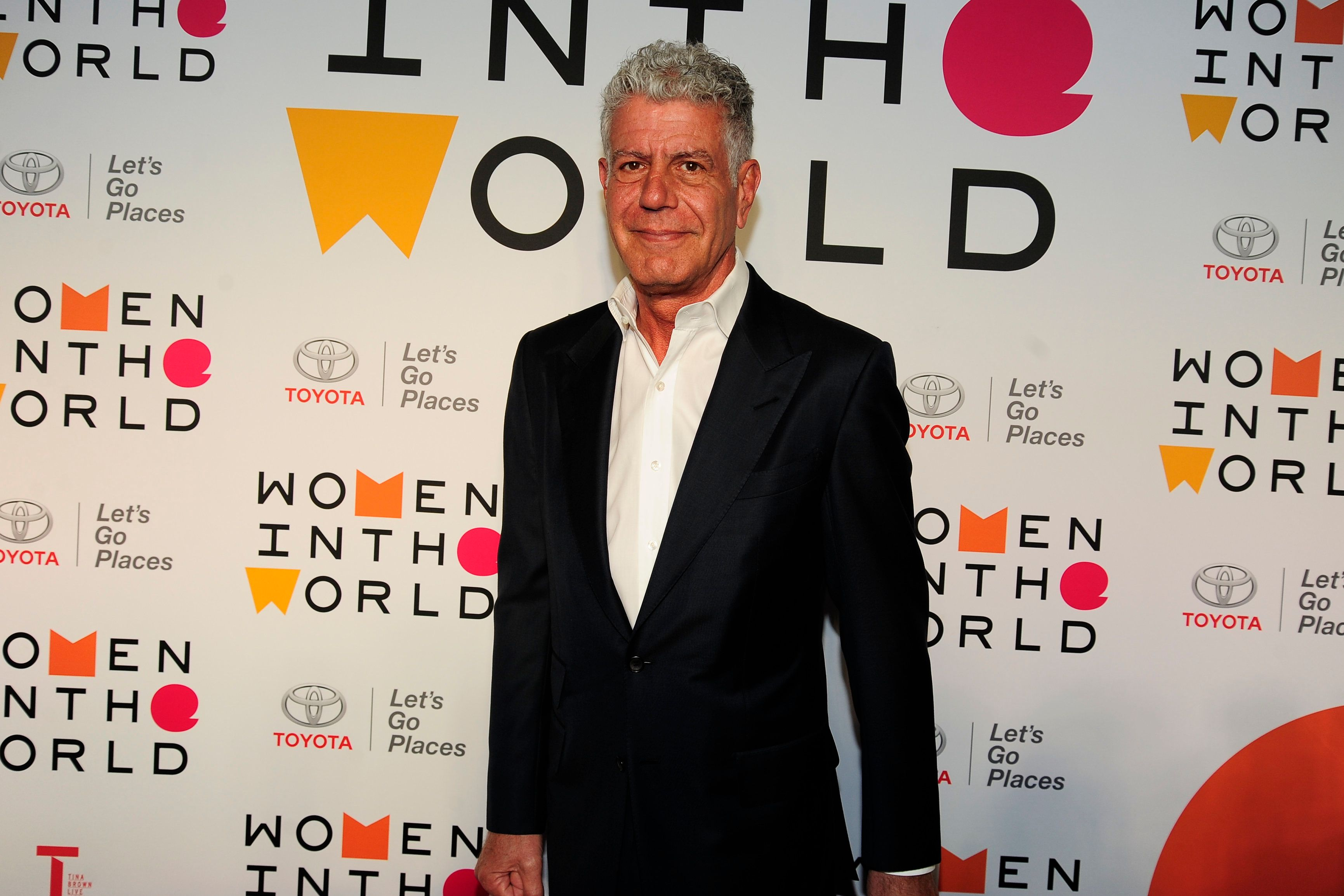 NEW YORK, NY - APRIL 12: Anthony Bourdain attends the 2018 Women In The World Summit at David H. Koch Theater, Lincoln Center on April 12, 2018 in New York City.  (Photo by Paul Bruinooge/Patrick McMullan via Getty Images)