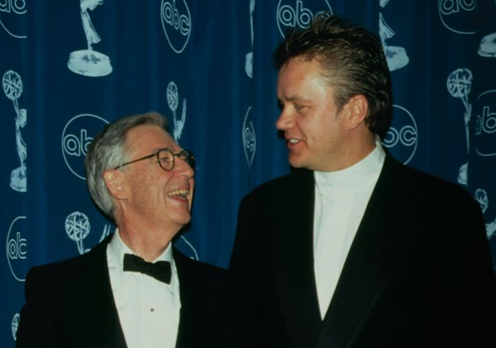 Actor Tim Robbins presented Rogers with the Lifetime Achievement Award at the 1997 Emmys.