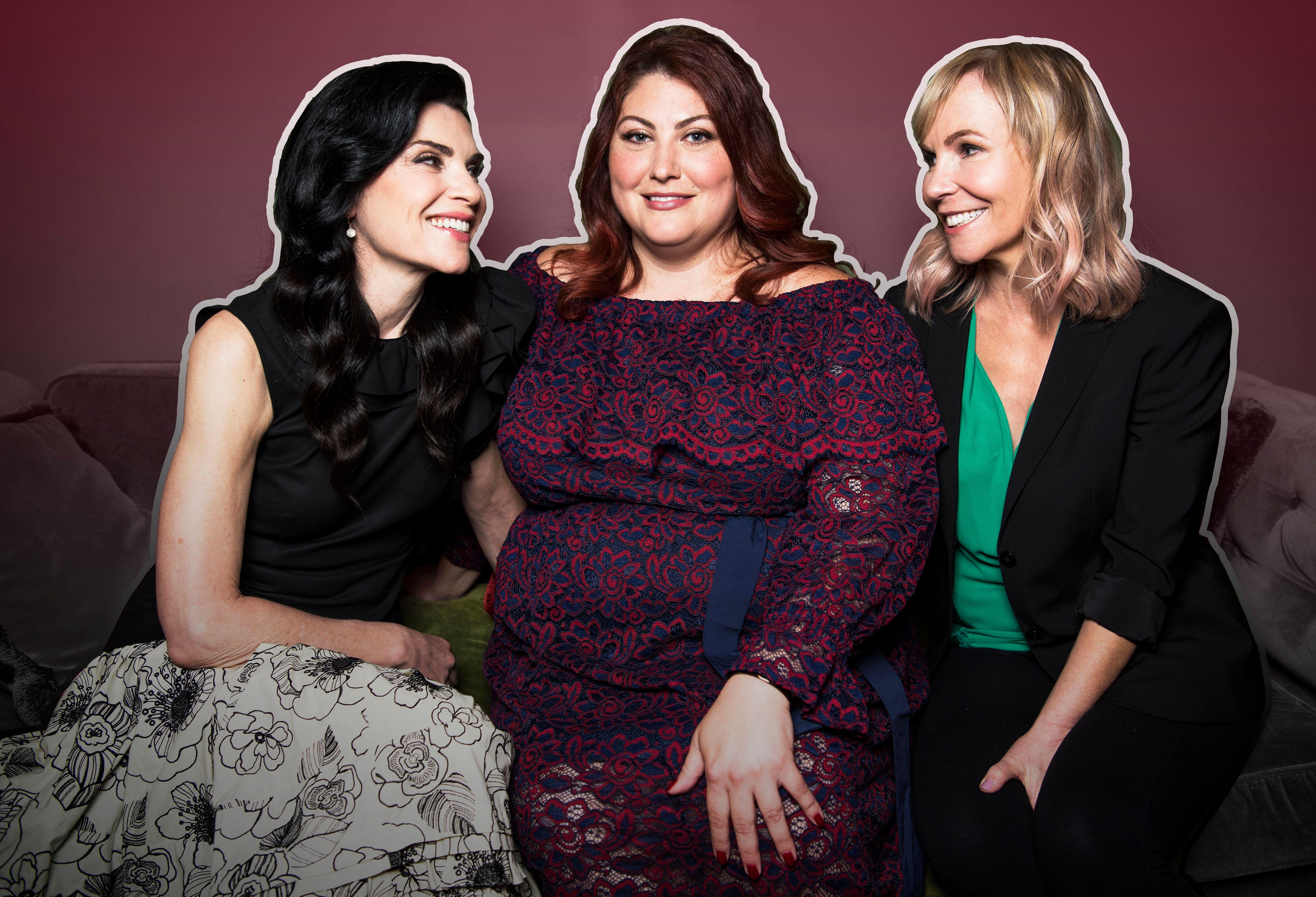 """Dietland"" actresses Julianna Margulies and Joy Nash with director Marti Noxon."