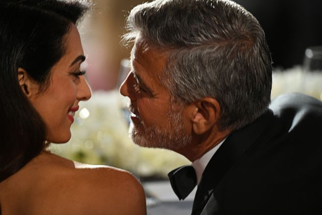 Amal Clooney Gushes In AFI Speech About Early Romance With