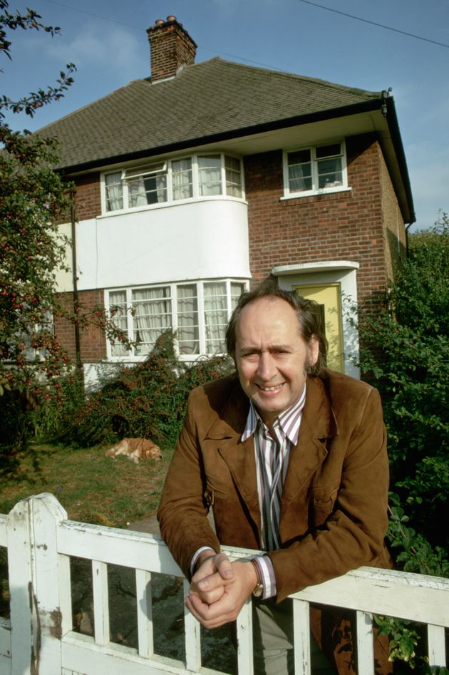 Novelist JG Ballard outiside his