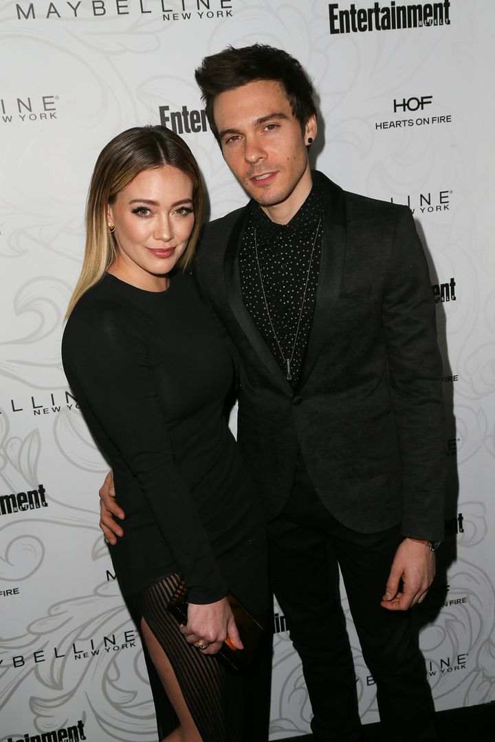 Hilary Duff and musician Matthew Komapictured together at the Chateau Marmont in 2017.