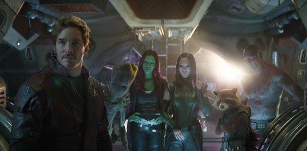 Star-Lord (Chris Pratt), Groot (Vin Diesel), Gamora (Zoe Saldana),Mantis (Pom Klementieff), Rocket...
