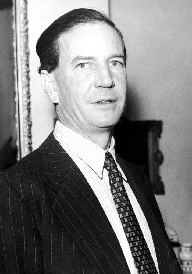 British double agent, 'Kim' Philby, at home during a press conference held after he had been (mistakenly)...