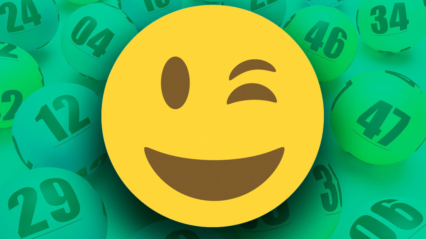 Lottery Winner Picks Up Check In Emoji Wink Mask | HuffPost