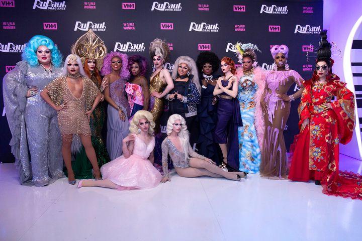 """The cast of """"RuPaul's Drag Race"""" Season 10."""