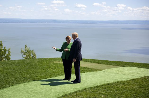 Kanzlerin Angela Merkel und US-Präsident Donald