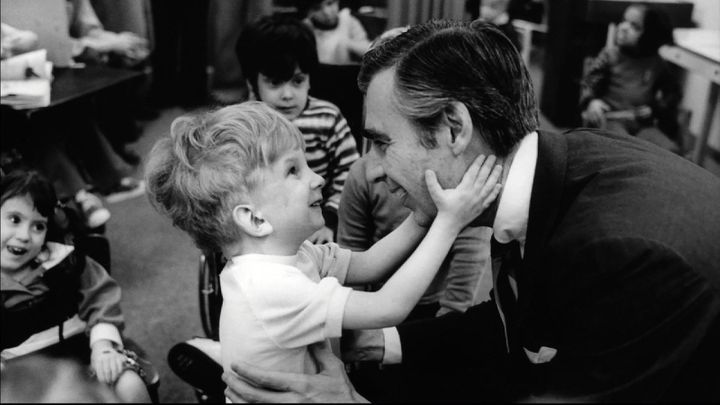 """Fred Rogers, seen in the show """"Mister Rogers' Neighborhood."""""""