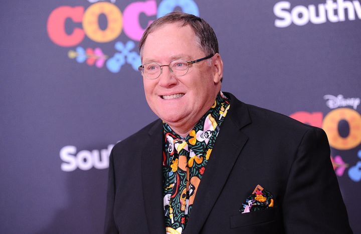 """John Lasseter, at the premiere of """"Coco"""" in Los Angeles on Nov. 8, is head of animationfor Disney and Pixar."""
