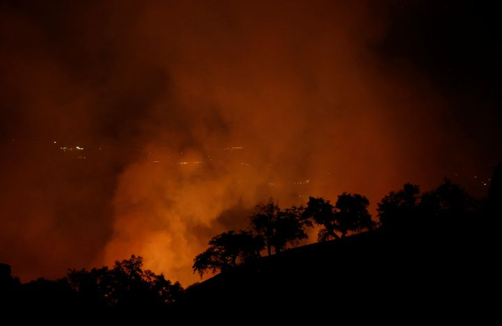 Northern California's Pocket fire is one of 12 blazes from last year linked topower line issues,state authorities said Friday.