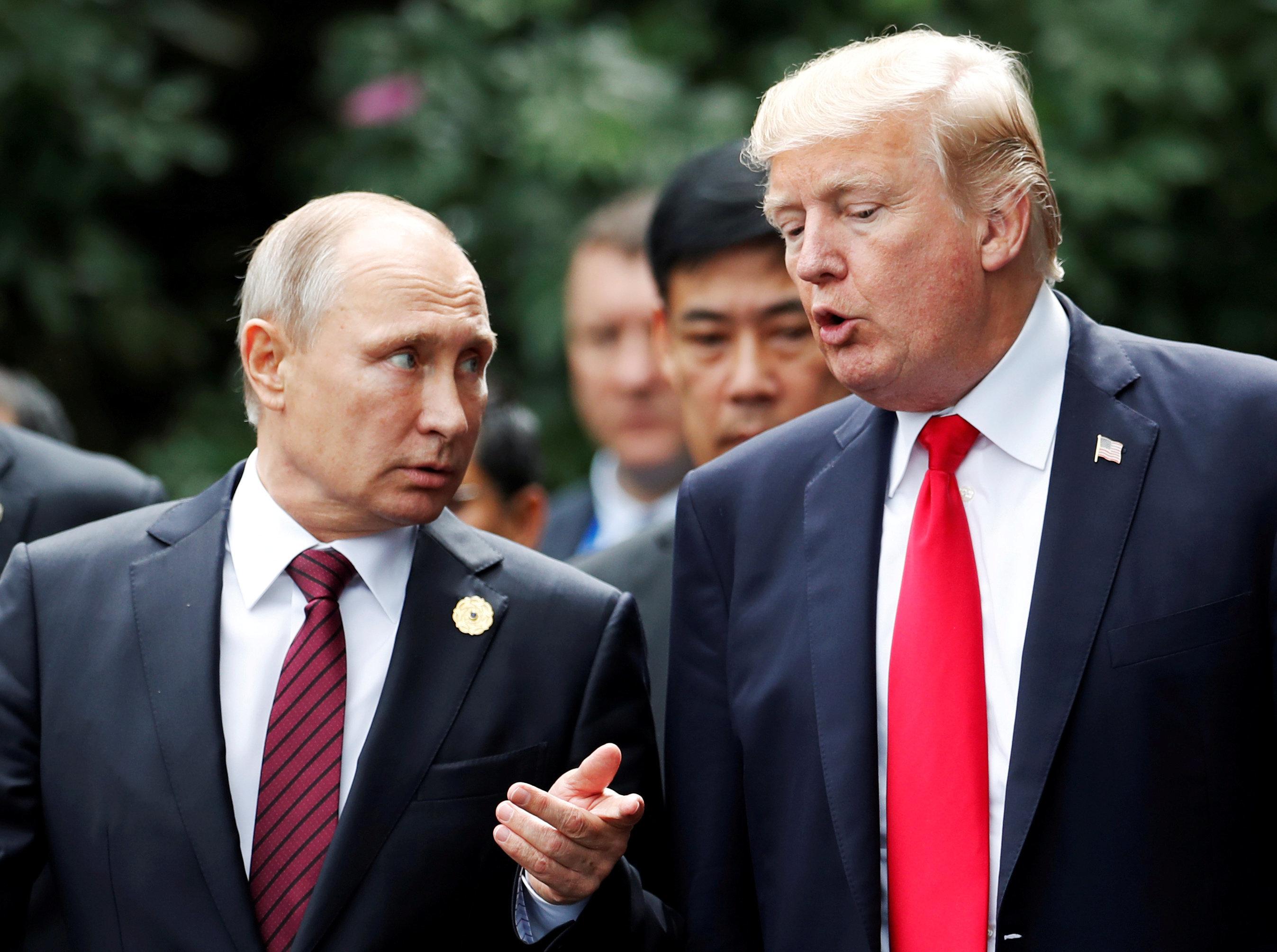 Trump and Putin in Vietnam last