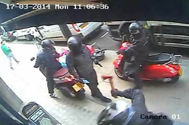 CCTV footage from a robbery at Watches of Switzerland from