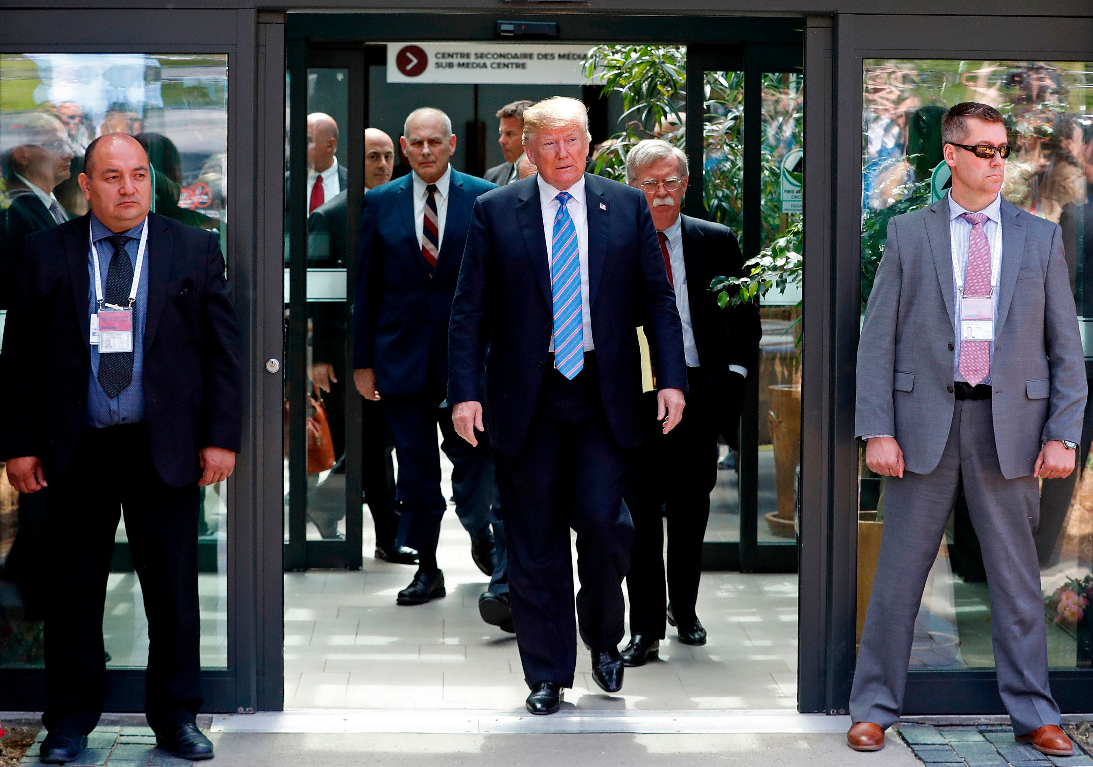 Donald Trump left the G7 summit in Quebec, Canada early on Saturday ahead of his meeting with North Korean...