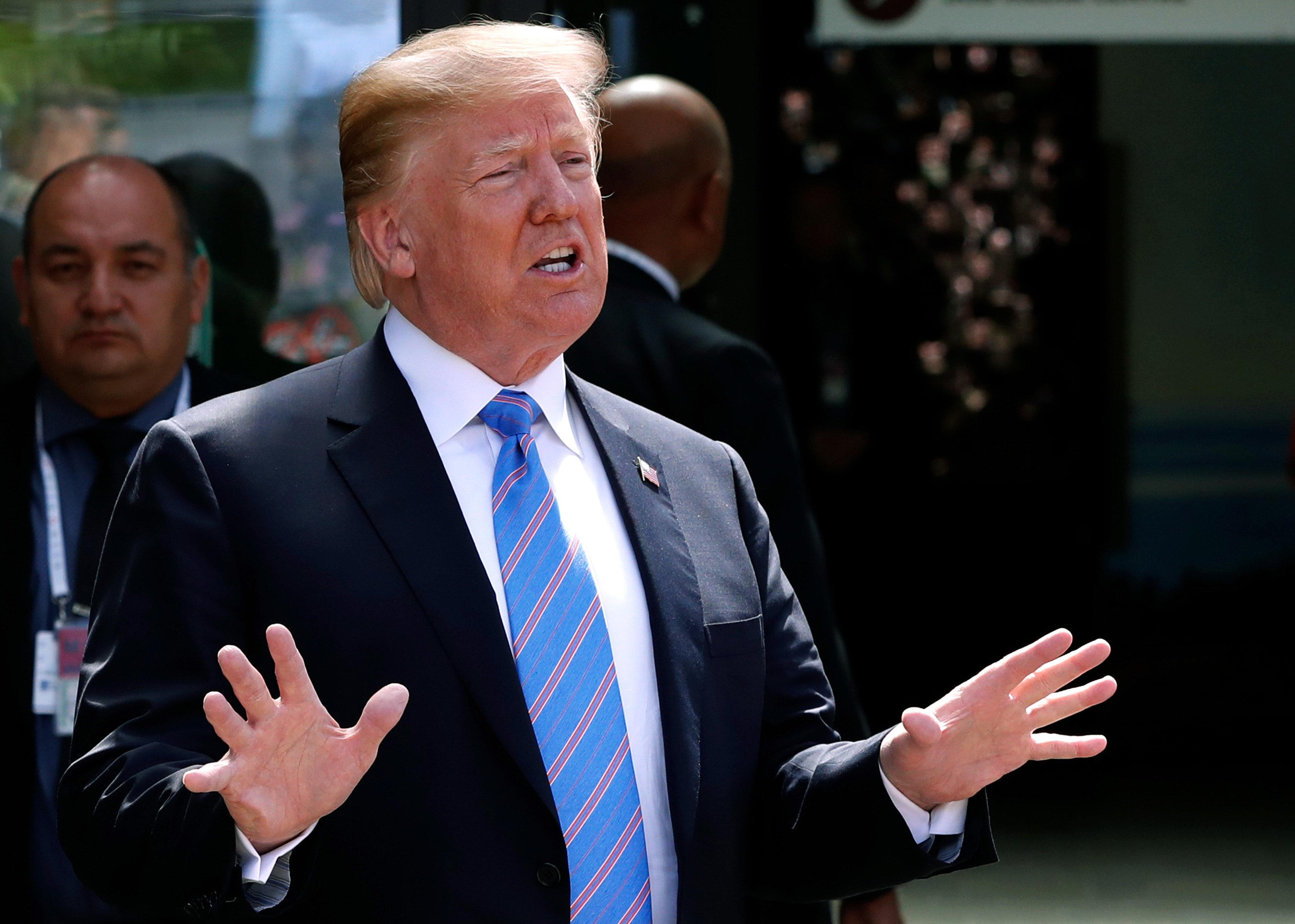 US President Donald Trump has warned the European Union against retaliating against US steel tariffs