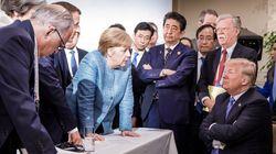 G7 정상회담의 이 명장면은 나라마다 다르게 찍혔다(사진