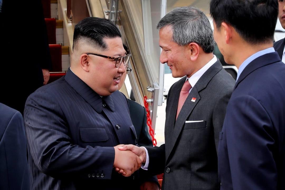 김정은 북한 국무위원장이 무사히 싱가포르에 도착했다