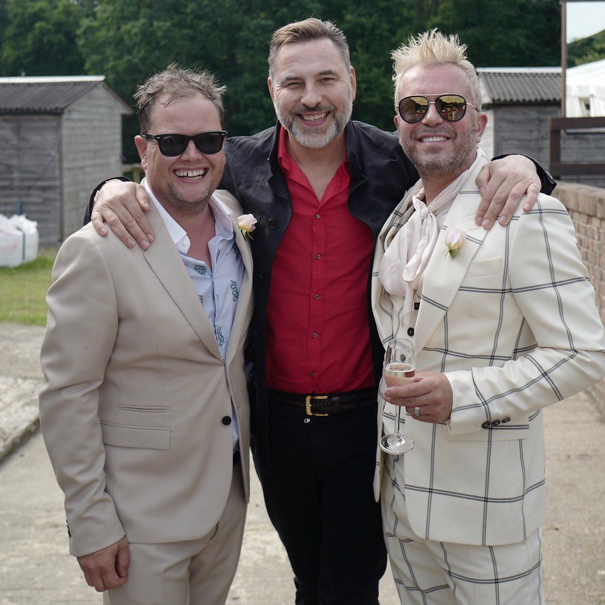 David Walliams Gives Glimpse Into Alan Carr's Star-Studded Wedding Party With Candid