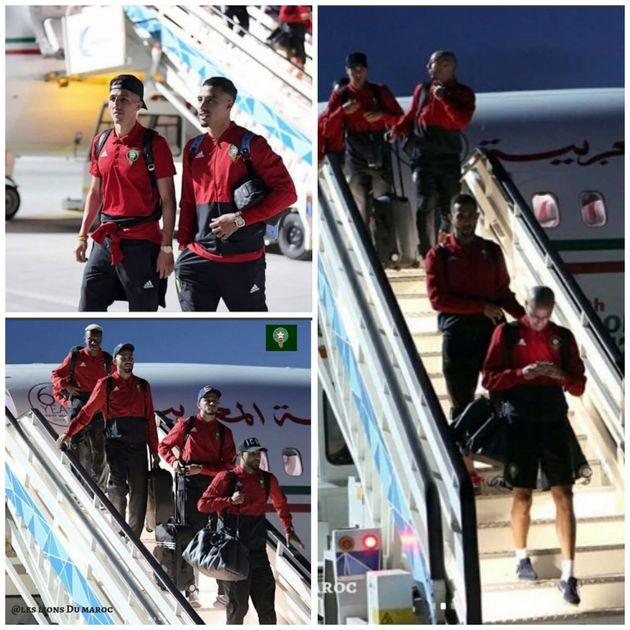 L'équipe nationale marocaine est arrivée en